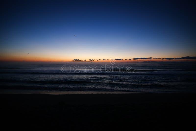 Sunrise over the Black Sea stock photos