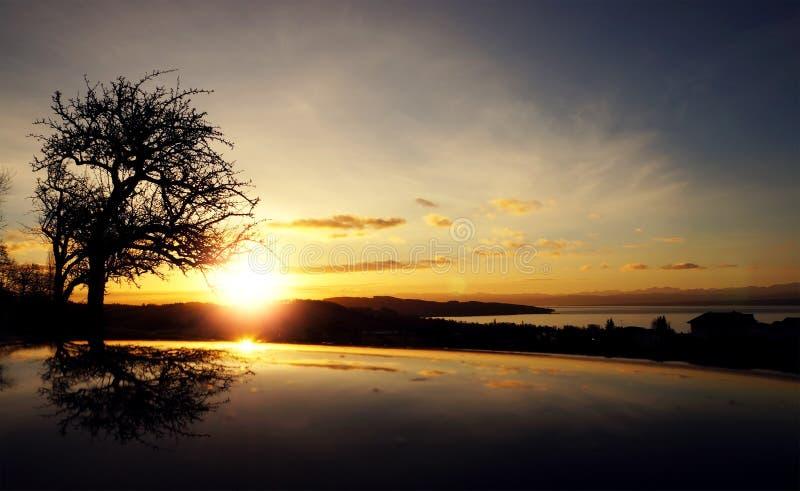 Sunrise Over Body Of Water Under Blue Sky Free Public Domain Cc0 Image