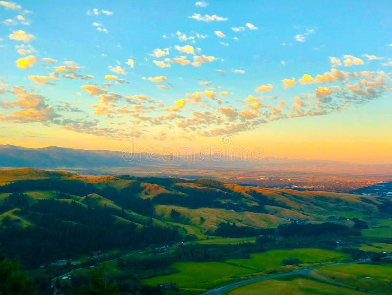 Sunrise over Bozeman, Montana stock photography