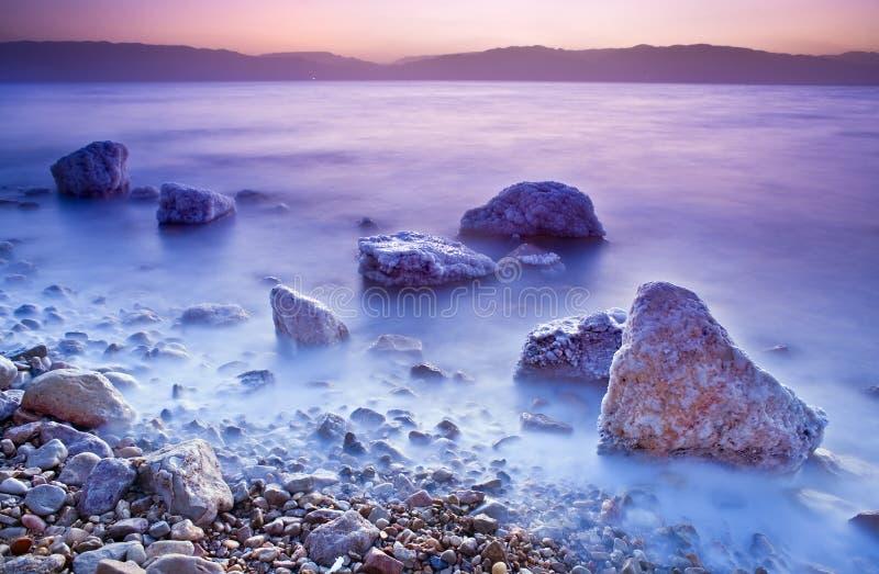 Sunrise Over The Dead Sea Stock Photos