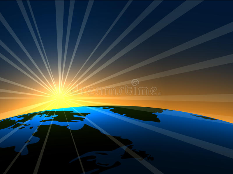 Download Sunrise over Earth stock vector. Illustration of orbital - 13838000