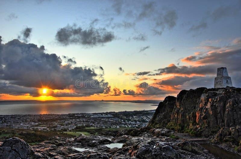 Sunrise over Edinburgh royalty free stock image