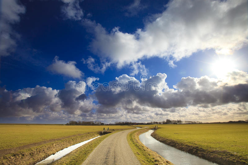 Download Sunrise Over A Flat Field In Holland Stock Image - Image: 13654917