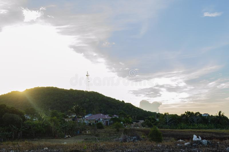 Sunrise Over The Hills During Dry Season royalty free stock photo