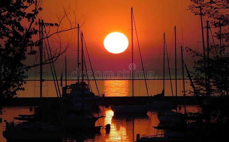 Sunrise Over Lake stock image