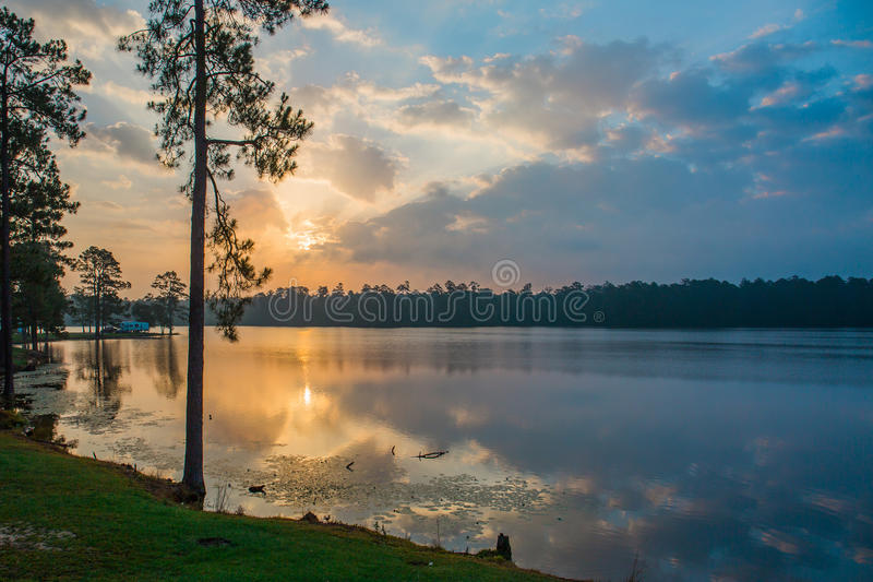 Sunrise over the Lake royalty free stock photos