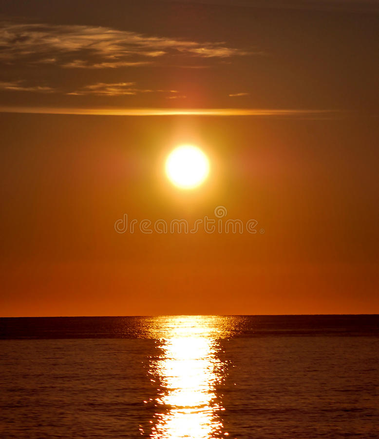 Sunrise over the Mediterranean stock image