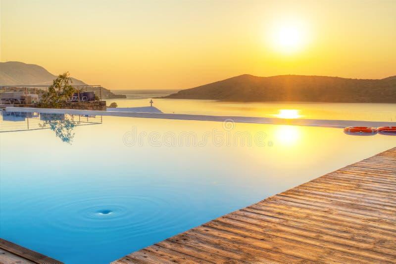 Download Sunrise Over Mirabello Bay On Crete Stock Image - Image of pool, nobody: 30068659