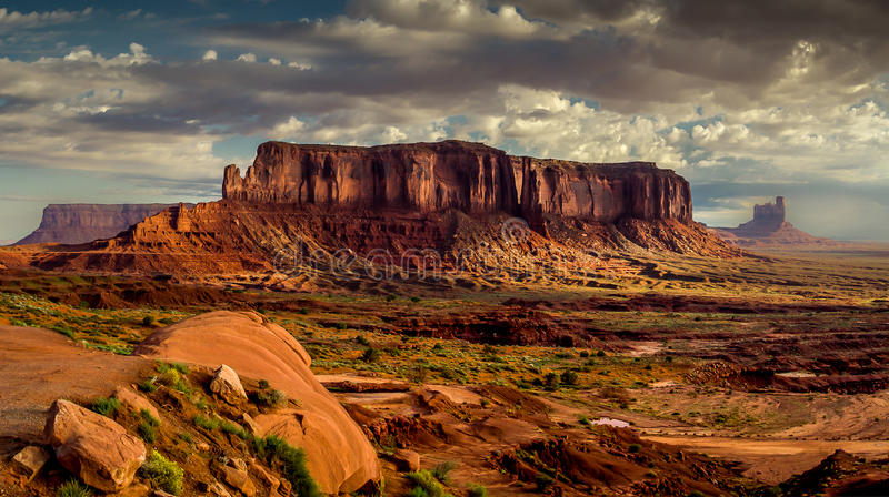Sunrise over Monument Valley stock photography