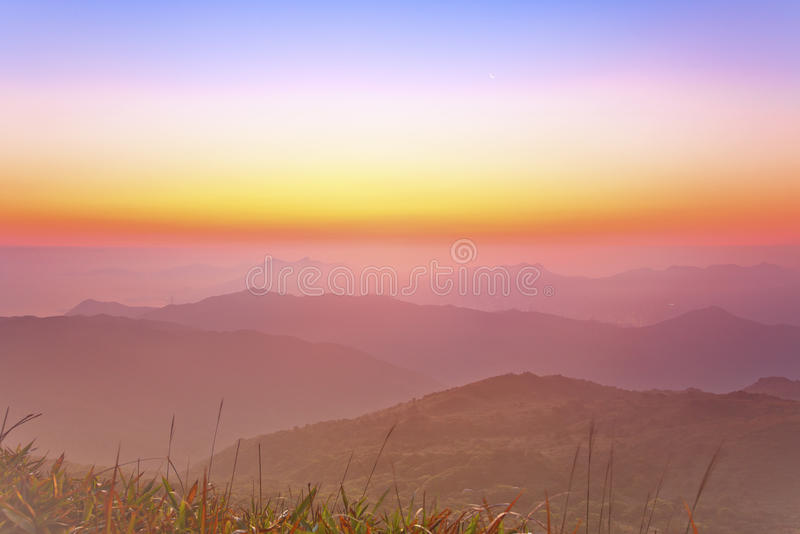 Download Sunrise Over A Mountain Valley Stock Photo - Image of natural, nature: 33553924