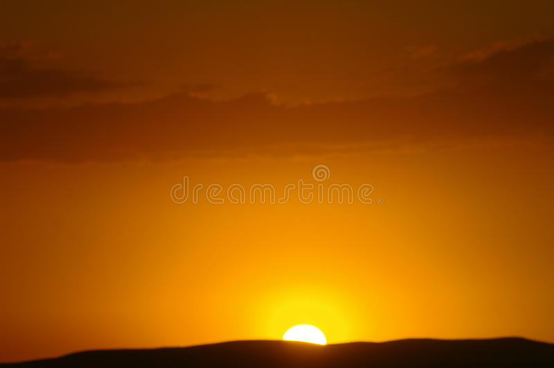 Sunrise over the mountains. Just west if Nanton Alberta stock photo