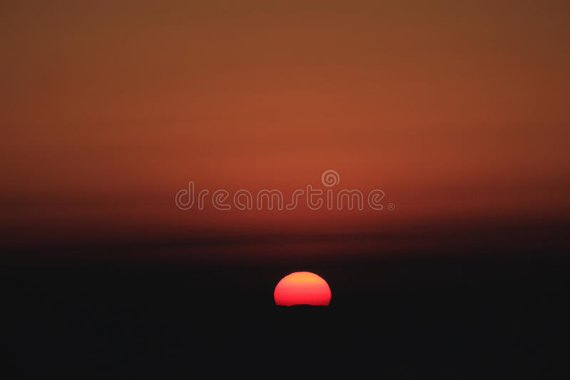Sunrise over mountains. royalty free stock photography