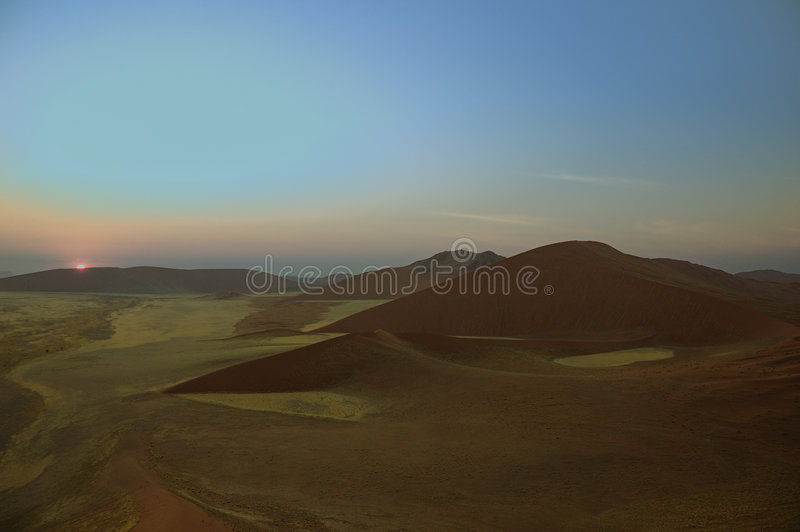 Sunrise over Namib Desert royalty free stock photo