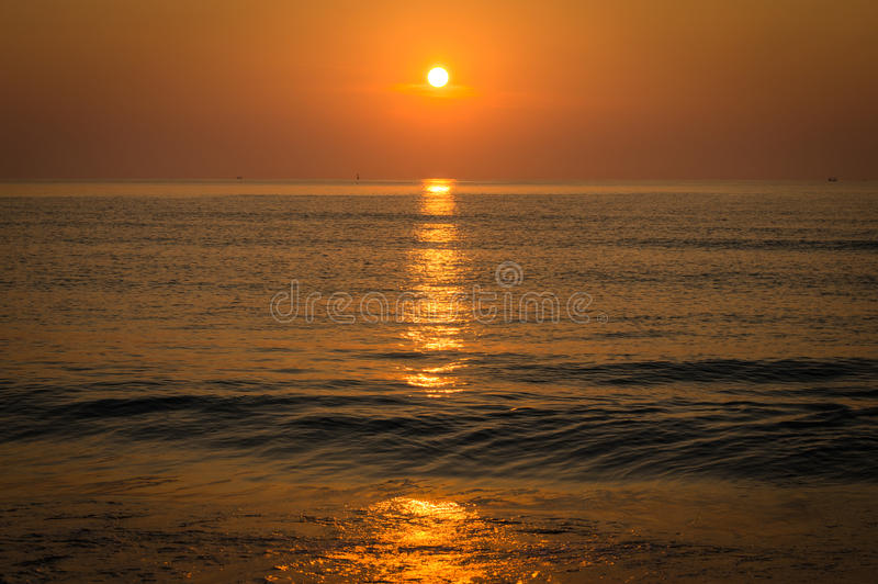 Download Sunrise over ocean. stock photo. Image of morning, over - 39049136