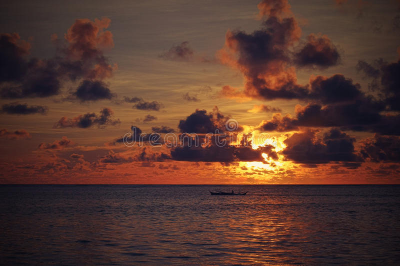 Sunrise over the Pacific Ocean royalty free stock photo