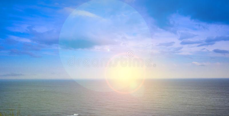 Sunrise Over Pacific Ocean in Kamchatka Peninsula royalty free stock photos
