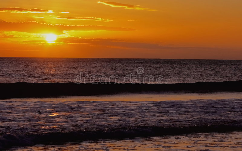 Sunrise over the sea stock image
