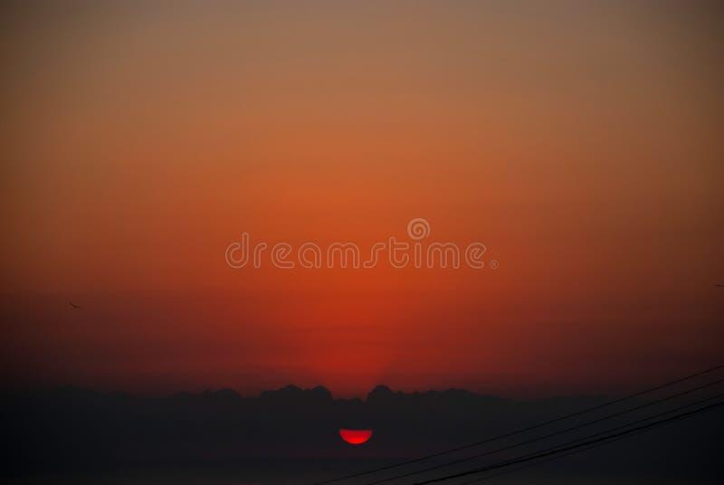 Sunrise over sea at Alicante, Costa Blanca stock photos