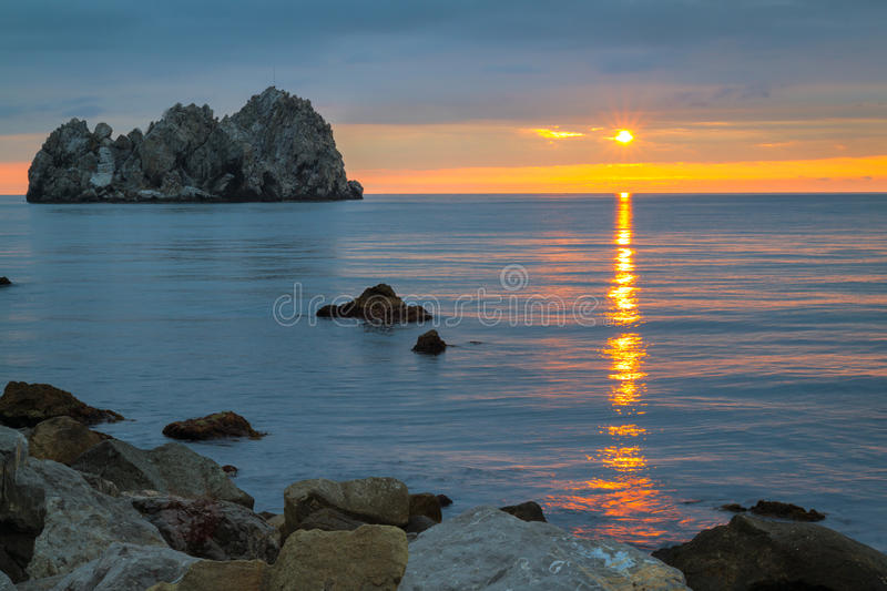 Download Sunrise over the sea stock image. Image of ocean, rays - 36500725
