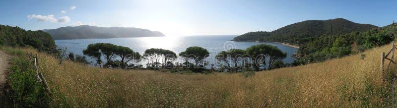 Sunrise over the sea near Marina di Campo on the island Elba royalty free stock images