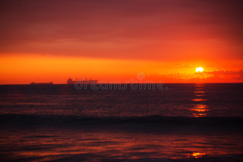 Download Sunrise over sea stock image. Image of background, wave - 35079335