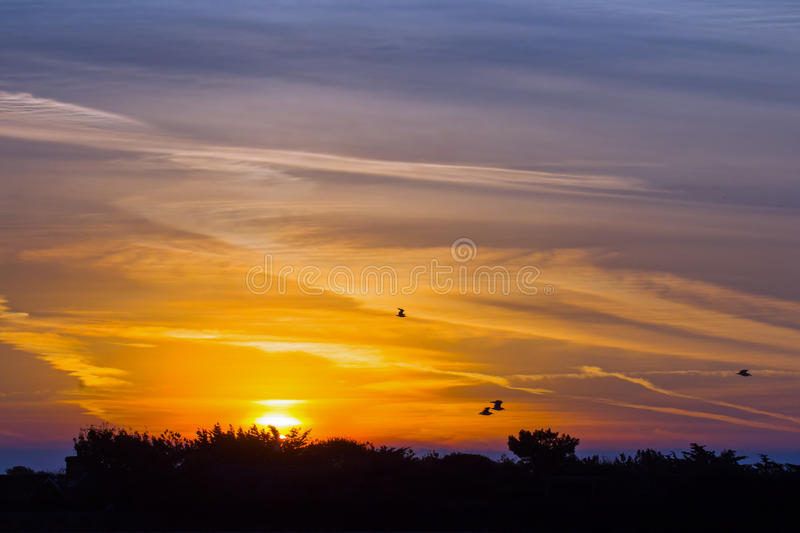 Sunrise over Seaford. September sunrise over Seaford in Sussex stock image