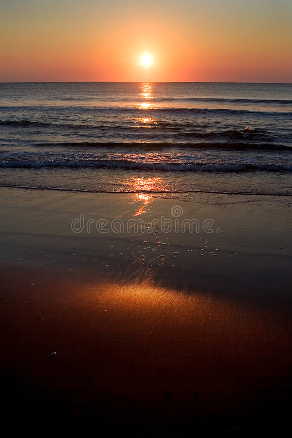 Sunrise over Shore stock images