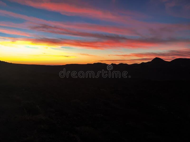 Sunrise over Mount Teide, Tenerife royalty free stock photos