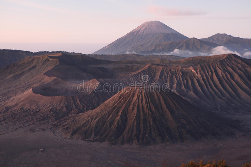 Sunrise over the Tengger Caldera in East Java, Indonesia. Sunrise over the volcanoes of the Tengger Caldera in East Java, Indonesia, pictured from Mount stock photo