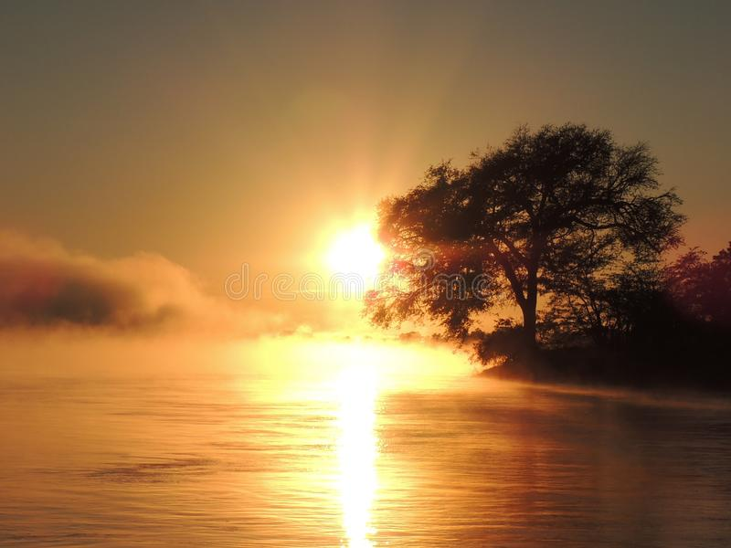 Sunrise over Zambezi royalty free stock photography