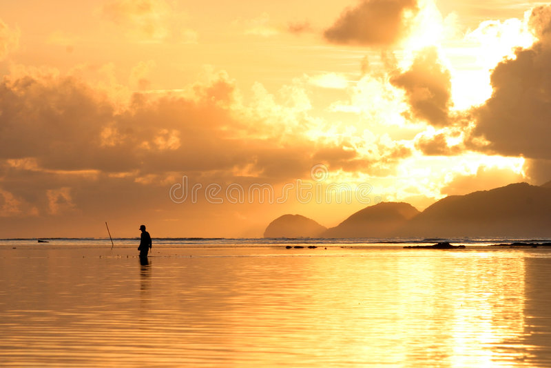 Sunrise palaui island royalty free stock image