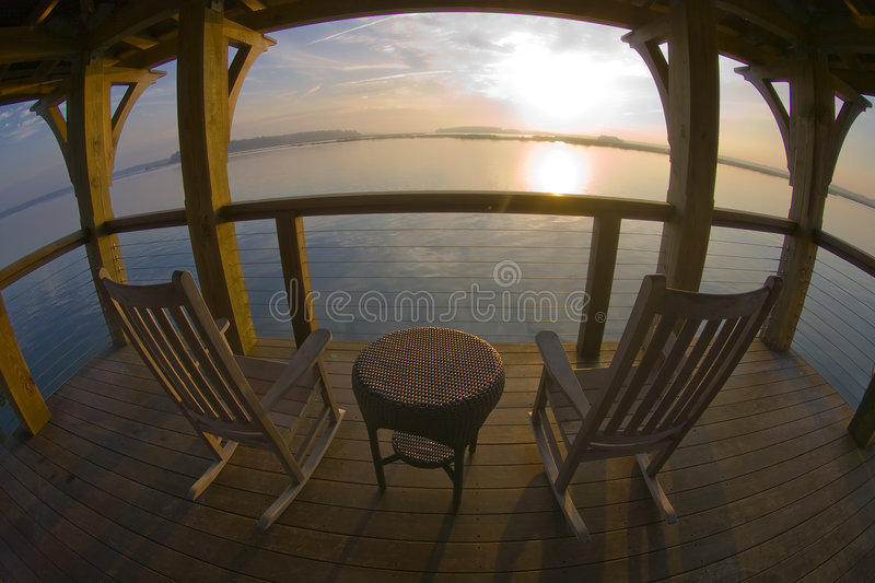 Sunrise at Palmetto Bluff. Sunrise at the Palmetto Bluff Inn located near Bluffton, SC royalty free stock images