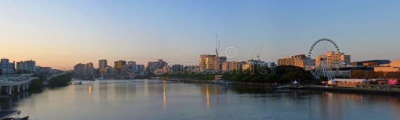 Sunrise Panorama of Brisbane River & City, Quuenland Australia royalty free stock photo