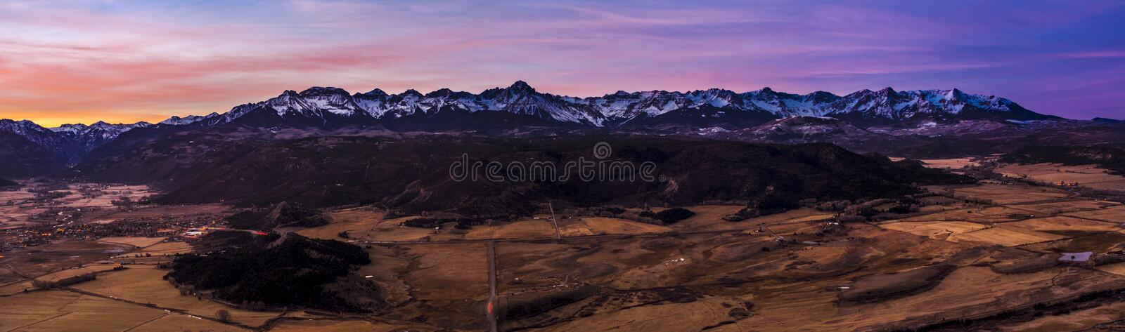 San Juan Mountains on Dallas Divide royalty free stock image