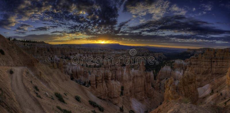Sunrise panoramico a Bryce Canyon fotografia stock