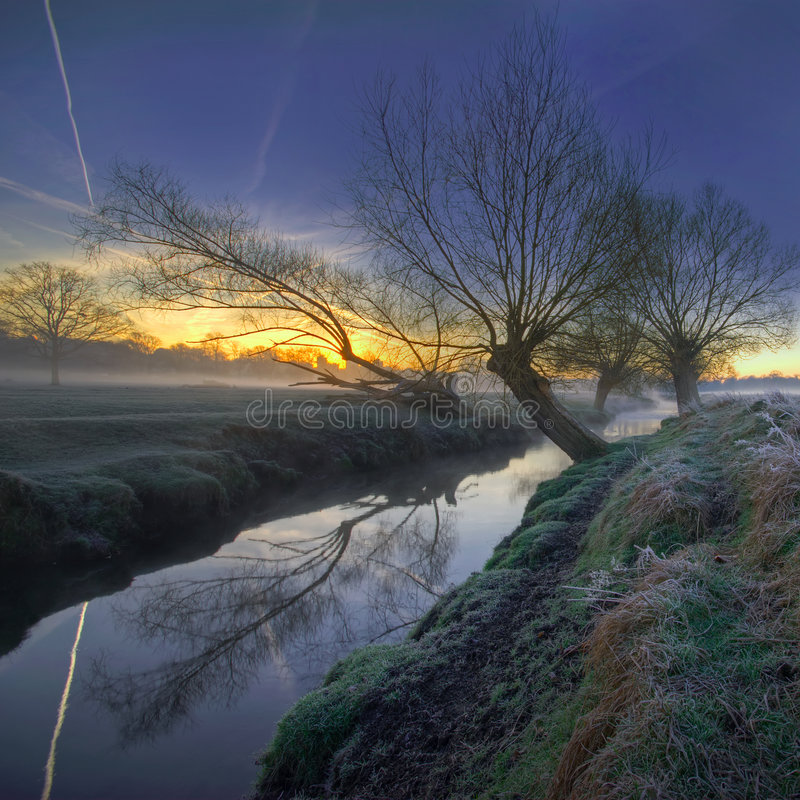 Download Sunrise in the park 1 stock image. Image of crop, river - 4658883