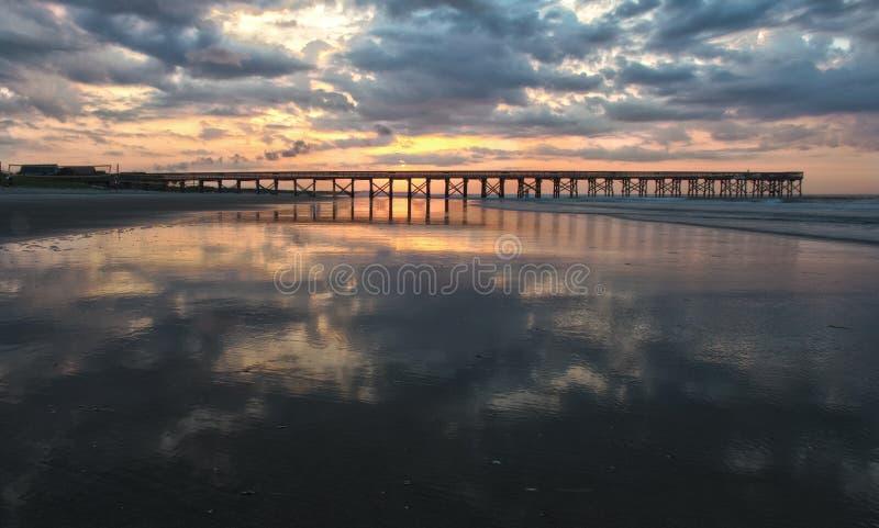 Sunrise On Pier Stock Image