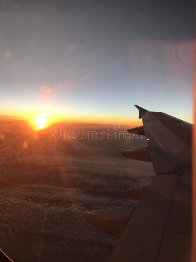 Sunrise from Plane royalty free stock photos