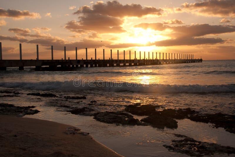 Download Sunrise At Playa Del Carmen, Mexico Stock Image - Image of dawn, summer: 8639623