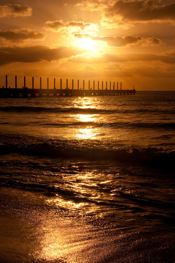 Download Sunrise At Playa Del Carmen, Mexico Stock Image - Image: 9292971