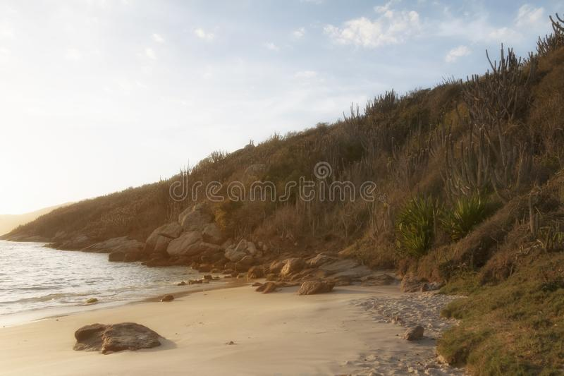 Arraial do Cabo, Cabo Frio, RJ, Brazil. The sunrise in Praia do Forno, Arraial do Cabo, RJ, Brazil stock photo