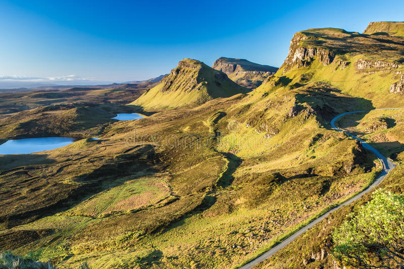 Sunrise at Quiraing, Isle of Skye, Scotland royalty free stock images