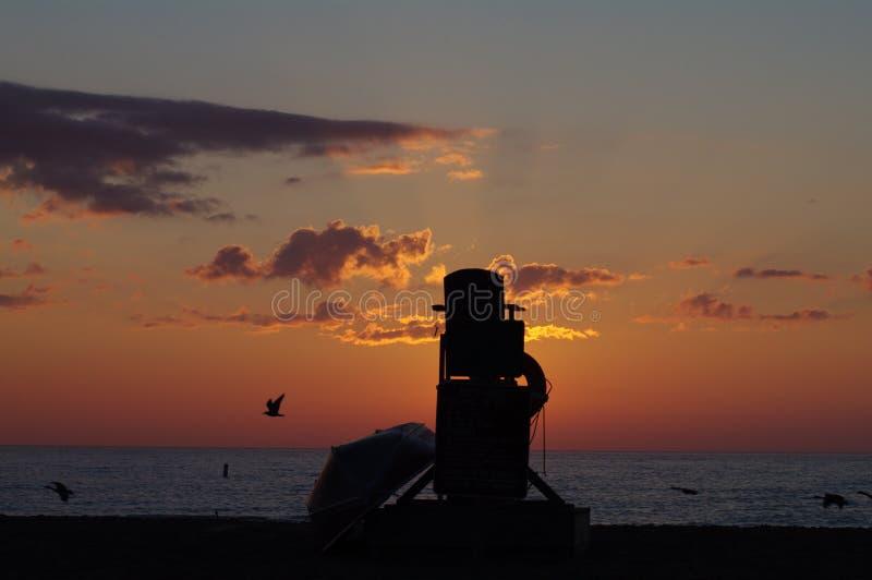Sunrise in Racine stock photography