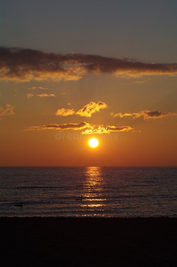 Sunrise in Racine stock image