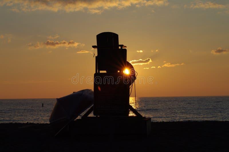 Sunrise in Racine royalty free stock photography