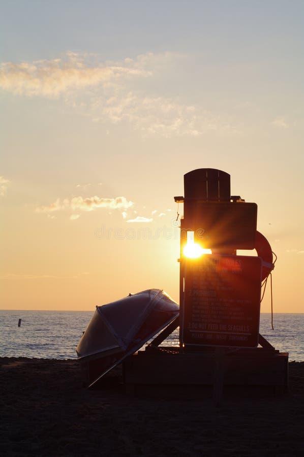 Sunrise in Racine royalty free stock photo