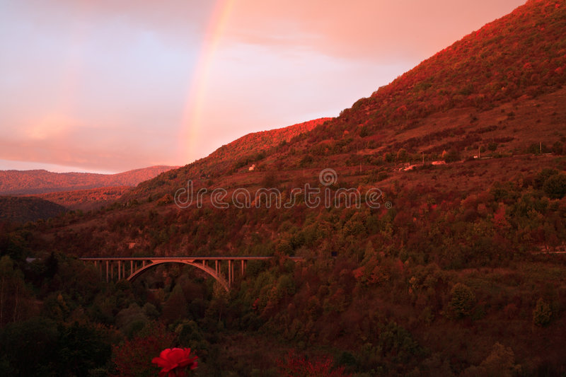 Download Sunrise With Rainbow Stock Images - Image: 1422174