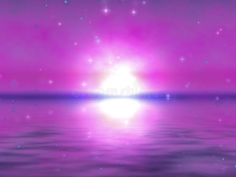 Download Sunrise reflections stock illustration. Illustration of stars - 81192