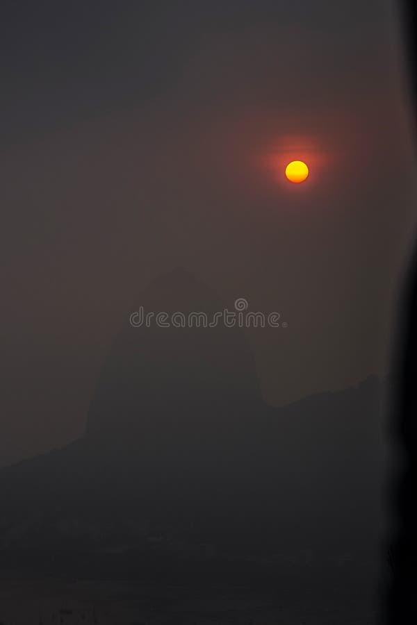 Dawn seen from Mirador Dona Marta. In Rio de Janeiro Brazil royalty free stock photography