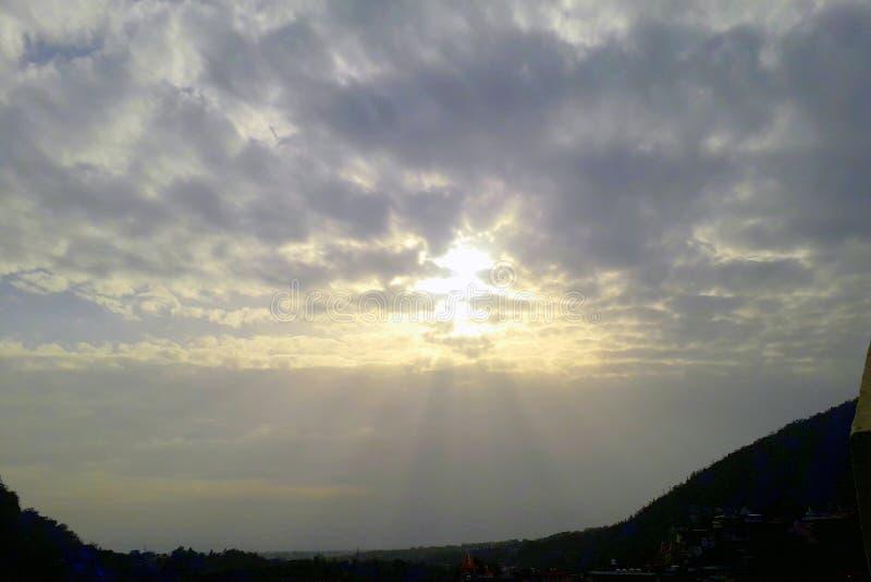 Sunrise in Rishikesh, India. Mobilephotography, mobilecamera royalty free stock photo